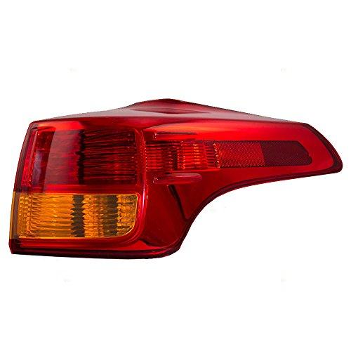 Passengers Taillight Tail Lamp Quarter Panel Mounted Lens Replacement for 13-15 Toyota RAV4 81551-42160 AutoAndArt