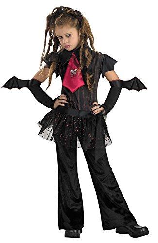 Disguise Girls Bat Chick Kids Child Fancy Dress Party Halloween Costume, L (10-12)