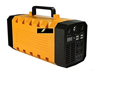 Bolt Lite Solar Portable Generator UPS Battery 800w Peak Backup Generator, Rechargeable Power Source Inverter with 110V/500W 3 AC Outlet, 12V Car, 4 USB Ports, Camping, Car Jump Starter, Emergency