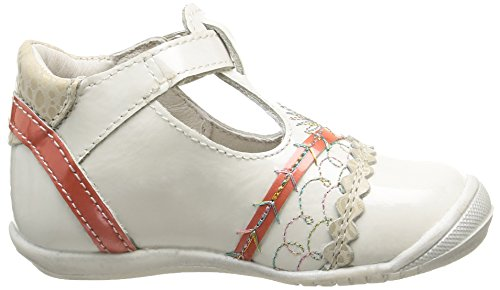 GBB Marina - Zapatos de primeros pasos Bebé-Niños Blanco - Blanc Cassé (33 Vvn Nacre/Corail Dpf/Kezia)