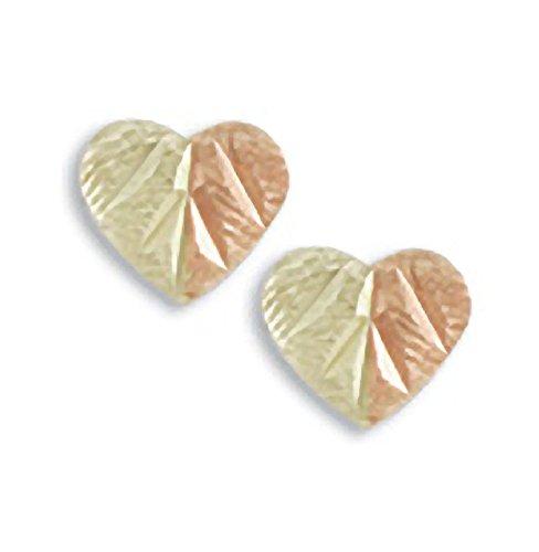 - 10k Split Leaf Heart Earrings from Landstroms Black Hills Gold