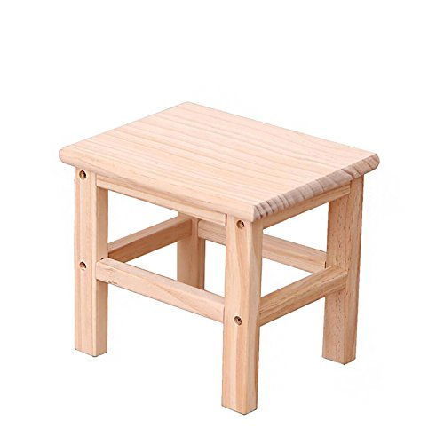 Btibpse Wooden Small Stools for Kids Solid Hard Wood Mini