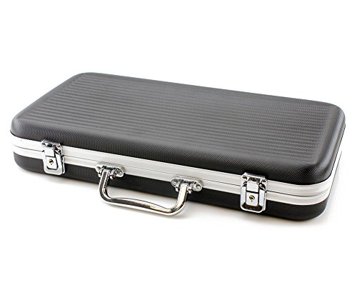 Versa Games 300 Piece ABS Poker Chip Case in Black by Versa Games