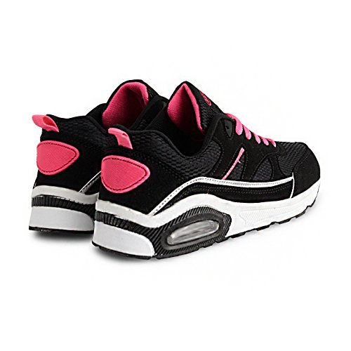 Absorbing Running Gym Girls Black Jogging Trainers Shock Shoe Fitness Womens Legacy Trainer Fuchsia 5fwqYxSat6