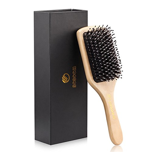 Hair Brush-Sosoon Boar Bristle Hairbrush for Lo...
