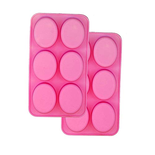 2 pack X Oval Shape Homemade Soap Mold Chocolate DIY Tray Mould Silicone Party maker (Ships From USA)