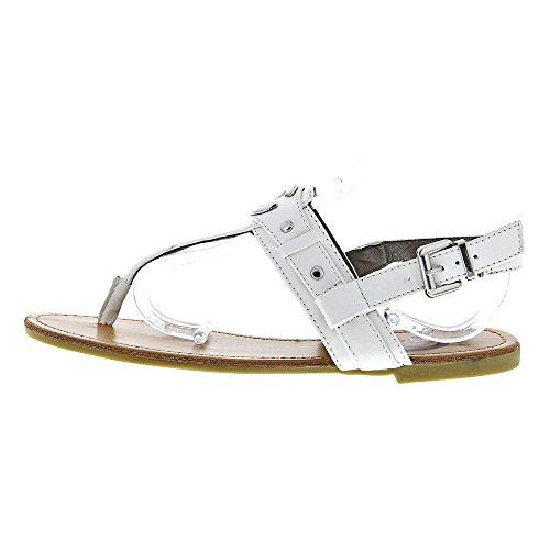 G By Guess Lundon-X Women US 7.5 White Open Toe Slingback Sandal