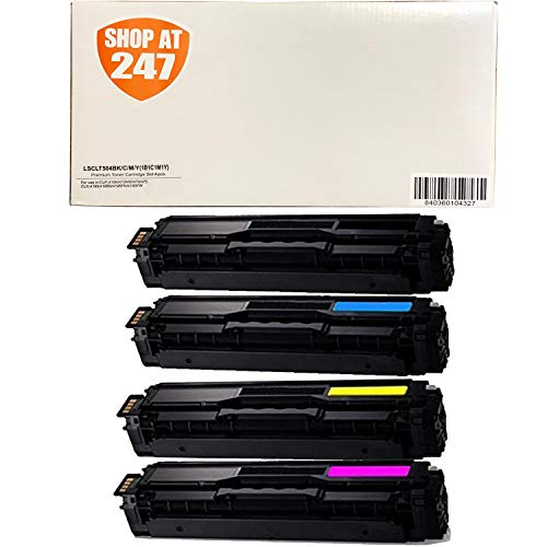 (SHOP AT 247 247T-SA-504S-00-CLT504SSet-80 Compatible Toner Cartridge Replacement for Samsung CLT-K504S,CLT-C504S,CLT-Y504S,CLT-M504S for Xpress SL-C1810W,C1860FW,CLX-4195FN,4195FW,CLP-415NW, Black, Cyan, Yellow, Magenta)