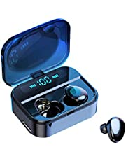 GlobalCrown True Wireless Earbuds with Upgraded LED Digital Display Charging Case,Bluetooth 5.0 Headphones Wireless with Touch Control Stereo In-Ear Earphones Waterproof with Mic for Sports Running