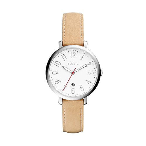 Fossil Women's ES4206 Jacqueline Three-Hand Date Nude Leather Watch
