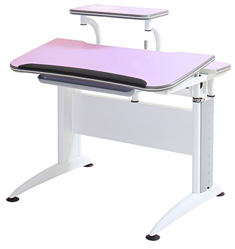 Reo-Smart ''Elite Alexis'' Height and Tilt Adjustable Desk with Shelf, Cord Concealers, and Drawer for storage. Premium Heavy Duty Ergonomic Design for Studying and Work. Made for all Ages. (Pink) by Reo-Smart