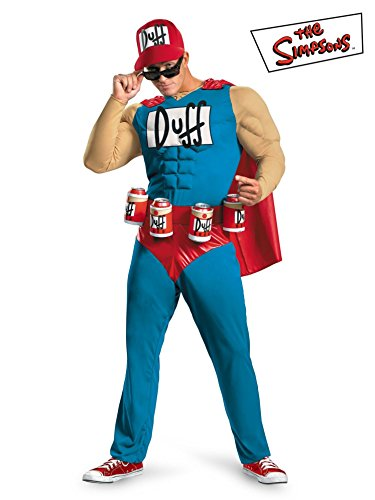 Duffman Costume Large (Duffman Classic Muscle Adult Costume - X-Large)
