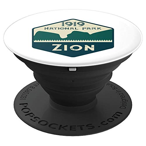 Zion National Park Trail Retro Hiking Design For Hikers Gift - PopSockets Grip and Stand for Phones and Tablets