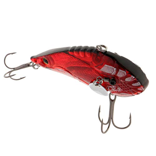 Ameglia Metal Hard Fishing Spoon Lure Casting Jigging Spinner Bait with Treble Hook (Color - A2)