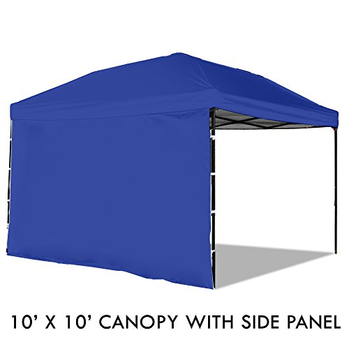 Blue Gazebo (Pop Up Canopy Tent with Sidewall 10 x 10 Feet, Blue - UV Coated, Waterproof Outdoor Party Gazebo Tent)