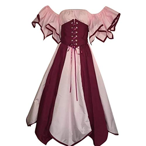 Women's Medieval Clothing - Toimothcn Womens Royal Retro Medieval Renaissance