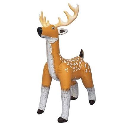 Jet Creations Inflatable 74u0026quot; Reindeer Christmas Decor