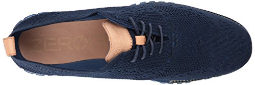 Cole Haan Men's Zerogrand Knit Winterized Oxford, Marine Blue/Limoges, 8 Medium US