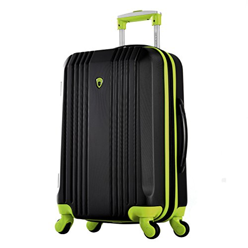 "Olympia Apache Ii 21"" Carry-on Spinner, Black+Lime"