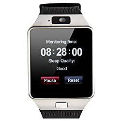 Dz09 Bluetooth Smart Watch - Upgraded Touch Screen Bluetooth Smart Wrist Watch Smartwatch Phone Support Sim Tf Card With Camera Pedometer For Iphone Ios Samsung Lg Android Phones (Black) Dz09 Bl