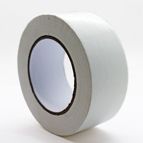 1 x White Roll Gaffer tape 48mm x 50m gaffa duct duck packing cloth book binding Coralgraph