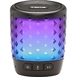 iHome Color Changing Rechargeable Bluetooth Speaker - with Siri,Google Assistant & Melody Voice Control