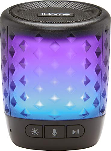 (iHome Color Changing Rechargeable Bluetooth Speaker - with Siri,Google Assistant & Melody Voice)