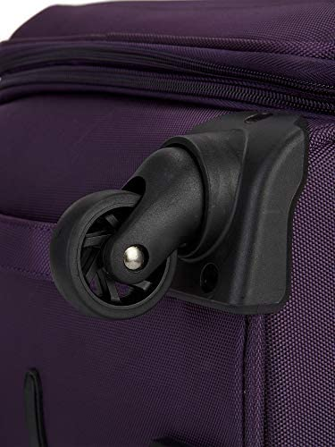 Travelers Club Business Class Expandable Spinner Luggage, Premium Purple, 3 Piece Set (20/24/28)