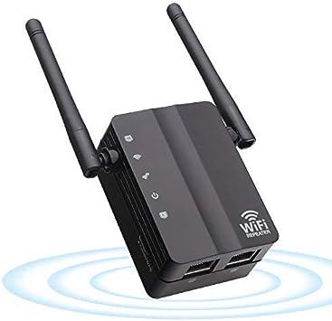 YWSS Extensor de Red WiFi,Repetidor de señal WiFi,Amplificador WiFi (hasta 300Mbps),Punto de Acceso Easy Set-Up 2 Antenas externas Y 2 Puertos ...