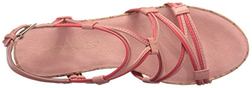 Aerosoles Women's Real Plush Wedge Sandal Coral Combo best sale online discount free shipping mScqT7oAp