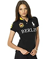 Polo Ralph Lauren Womens Custom Fit Lightweight Thin Mesh Shirt Black Berlin