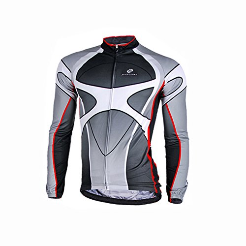 - ZEROBIKE® Men's Soft Long Sleeve Breathable Bicycle Cycling Jersey Polyester Clothing Outdoor Sports Fall Autumn