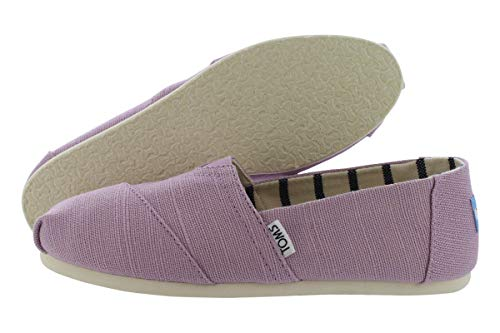 TOMS Women's Venice Collection Alpargata Soft Lilac Heritage Canvas 7.5 B US B (M) (High Canvas Shoes)