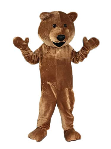 Funny Adult Size Teddy Bear Mascot Costume for Party Mascota Animal Mascots Brown Bear Cosplay Costume]()