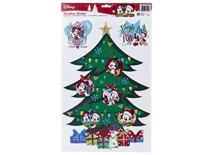 Disney Christmas Decorations.Amazon Com Pack Of 3 Disney Christmas Window Stickers