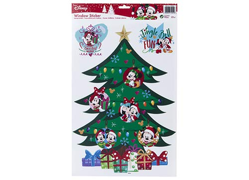 Disney Pack of 3 - Stickers vitres de Noël Décorations Mickey et Minnie
