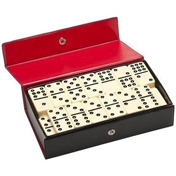 Amazon Com Double Nine Dominoes Ivory Tiles Thick Size