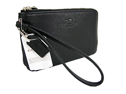 7e895827070b Coach C Signature Logo Wristlet Hand Bag Purse Outline Smoke Gray Black