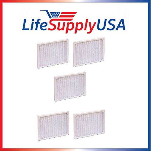 LifeSupplyUSA 5 Pack Replacement Filter to fit Hunter 30920 30905 30050 30055 30065 37065 30075 30080 30177