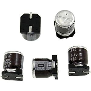 10x Elko Kondensator radial 330µF 6,3V 105°C ; 6SA330M ; 330uF