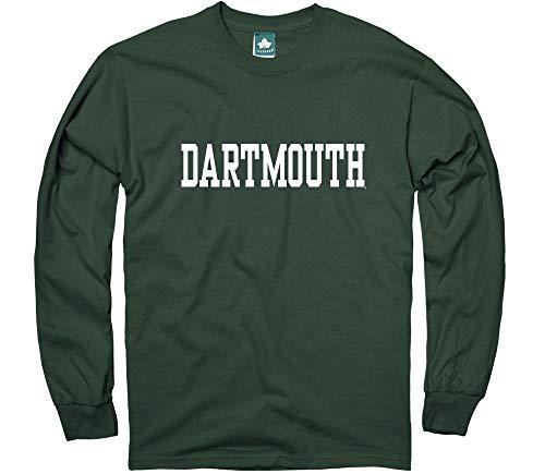 College Long Sleeve Tee - Ivysport Dartmouth College Long-Sleeve T-Shirt, Classic, Green, XX-Large