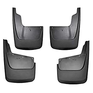 Husky Liners Fits 2020 Chevrolet Silverado 2500/3500, 2020 GMC Sierra 2500/3500 Custom Front and Rear Mud Guards, Black, Model Number: 58286
