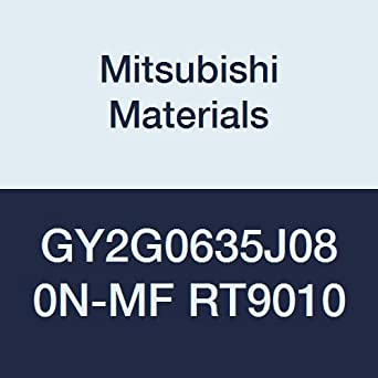 Mitsubishi Materials GY2G0635J080N-MF RT9010 GY Series Carbide Grooving Insert for Multifunctional and Finishing 2 Teeth J Seat Pack of 10 0.031 Corner Radius 0.250 Grooving Width