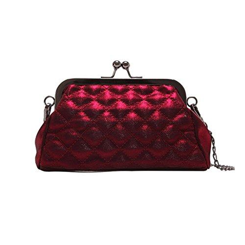 Handbag Small Bag, Spring And Summer New Buckle Bag Fashion Messenger Bag Shoulder + (color: Silver) Network