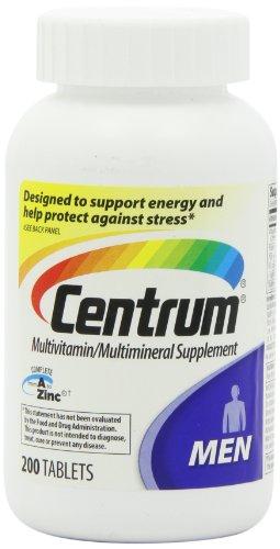 Центр Мужская Мультивитамины / Мультиминерал Дополнение, 200 таблеток