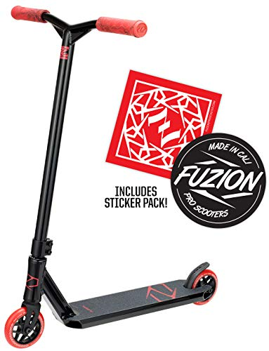 Fuzion Z250 Pro Scooters - Trick Scooter - Intermediate and Beginner Stunt Scooters for Kids 8 Years and Up, Teens and Adults - Durable Freestyle Kick Scooter for Boys and Girls (2020 - Black/Red)