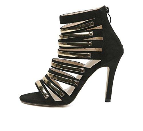 Stiletto Nouveau Or Cheville 35 Talons La 40 Partie Ouvert 2018 Black À Yards Linyi Sandales Tpr Bride Chaussures Femmes 0xwfqOP