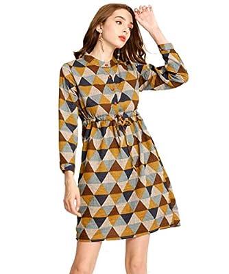 Ashir Aley Button Down Shirt Dresses for Women Plus Size Plaid Dress with Pockets Women's Casual Dresses Knee Length