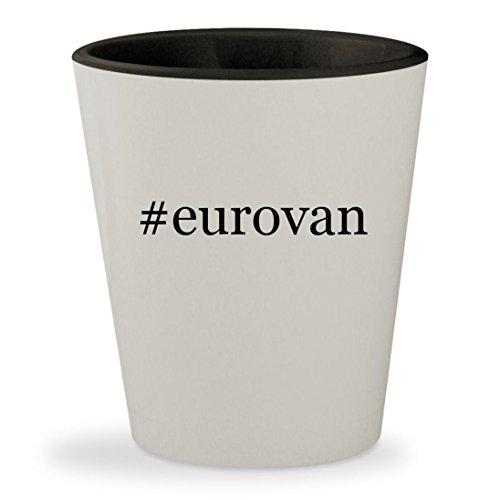 #eurovan - Hashtag White Outer & Black Inner Ceramic 1.5oz Shot Glass (Egr Headlight Covers)