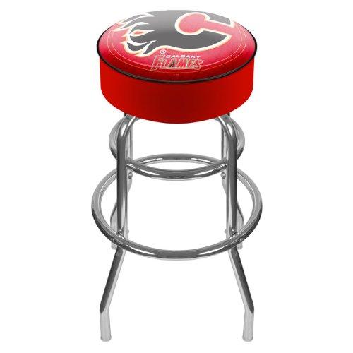 (Calgary Flames Padded Bar Stool)